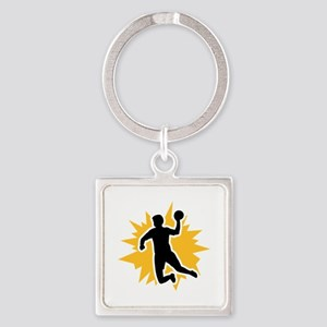 Dodgeball player Square Keychain