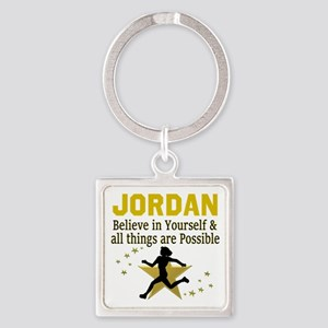 RUN TRACK Square Keychain