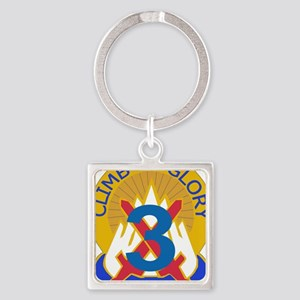 DUI-10 MTN DIV 3BCT Square Keychain