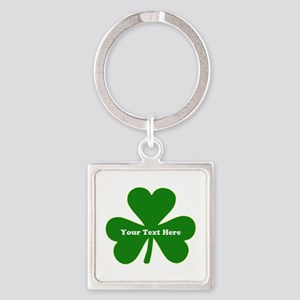 Ireland Green Clover Square Keychain