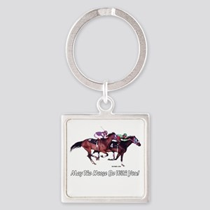 May The Horse Be With You Square Keychain