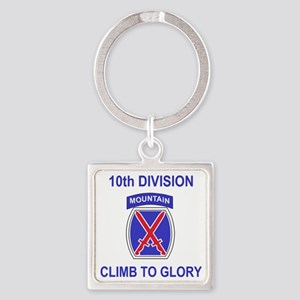 Army-10th-Mountain-Division-Shirt- Square Keychain