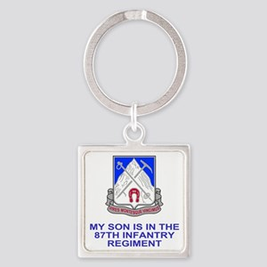 Army-87th-Infantry-Reg-My-Son Square Keychain
