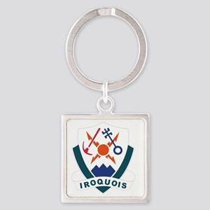 10 Mountain Division Square Keychain