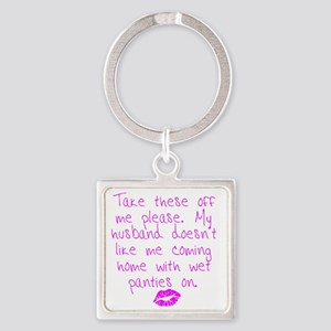 kissed - pink Square Keychain