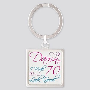 70th Birthday Humor Square Keychain