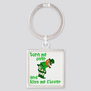 Turn me over 2012 Square Keychain