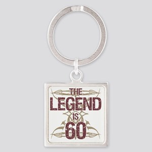 Men's Funny 60th Birthday Square Keychain