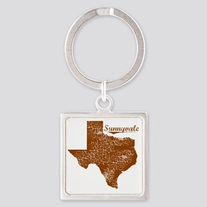 Sunnyvale, Texas (Search Any City! Square Keychain