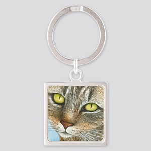 cat 304 Square Keychain