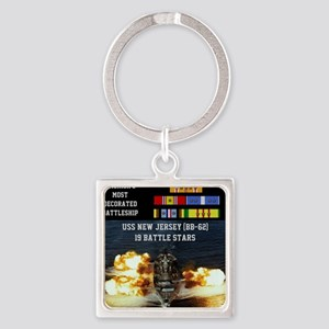 USS NEW JERSEY (BB-62) Square Keychain