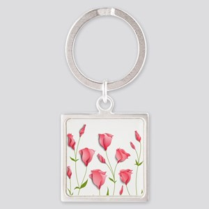 Pretty Flowers Keychains