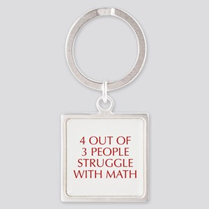 4-OUT-OF-3-PEOPLE-OPT-RED Keychains