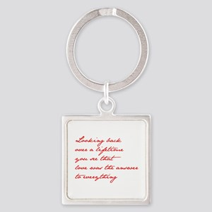 looking-back-love jane red Keychains