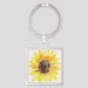 Cute Yellow Sunflower Keychains