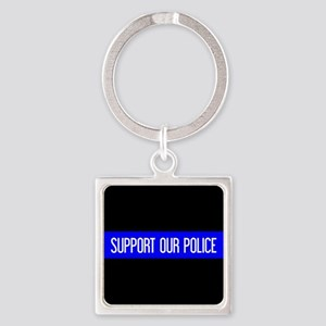 Police: Support Our Police & The T Square Keychain