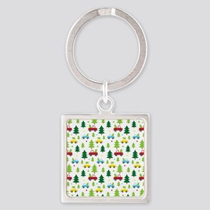 Christmas Tree Holiday Fun Square Keychain