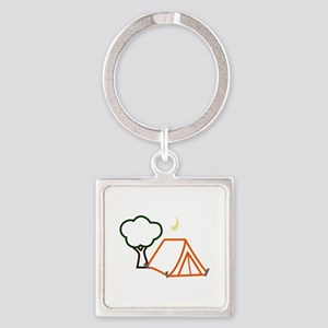 CAMPING APPLIQUE Keychains