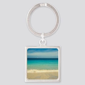 50 shades of blue Square Keychain