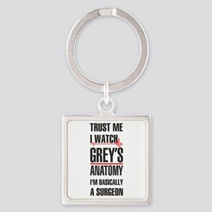 Greys Anatomy trust me black Keychains