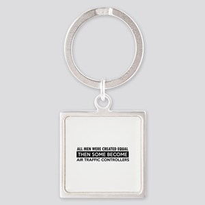 Air Traffic Controllers Designs Square Keychain