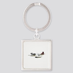 A-37 Dragonfly Aircraft Square Keychain