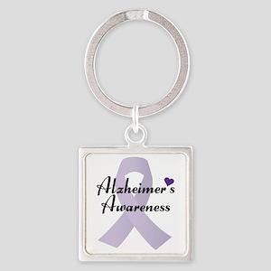 Alzheimers Awareness Ribbon Keychains