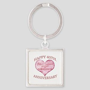 40th. Anniversary Keychains