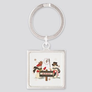 Let it snow snowman Keychains