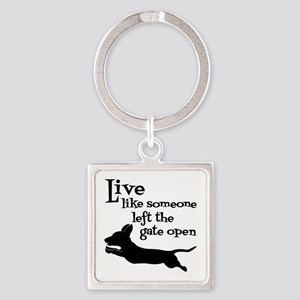 OPEN GATE! Square Keychain