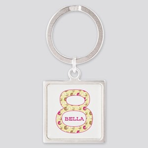 8th Birthday Personalized Square Keychain