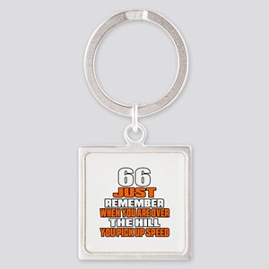 66 Just Remember Birthday Designs Square Keychain