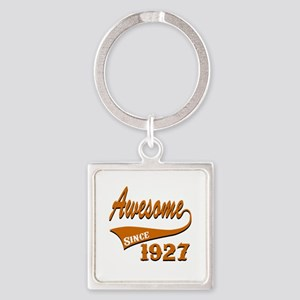 Awesome Since 1927 Birthday Design Square Keychain