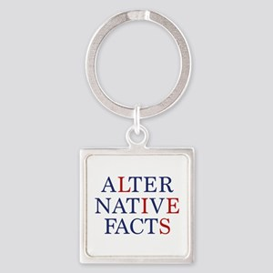 Alternative Facts Square Keychain