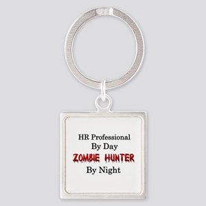 HR Professional/Zombie Hunter Square Keychain