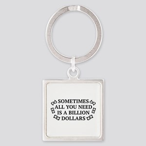 All You Need Square Keychain