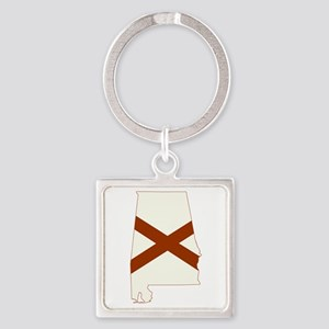 Alabama Flag Square Keychain