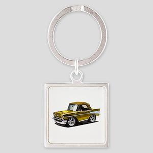 BabyAmericanMuscleCar_57BelR_Gold Keychains