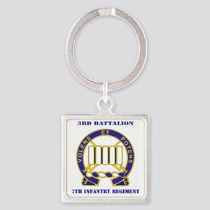 DUI - 3rd Battalion 7th Infantry R Square Keychain