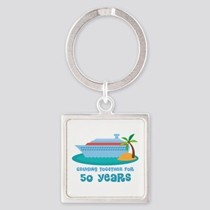 50th Anniversary Cruise Square Keychain