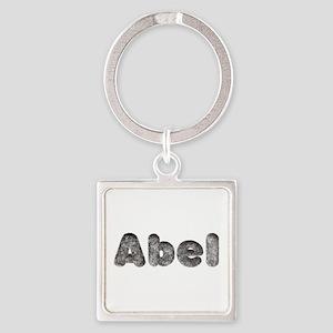 Abel Wolf Square Keychain