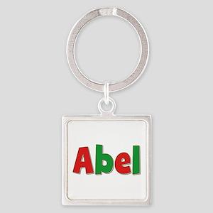 Abel Christmas Square Keychain