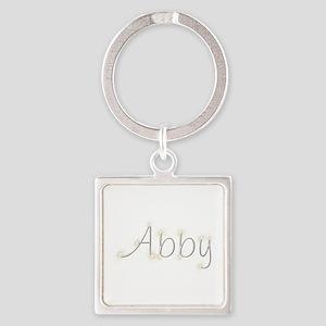 Abby Spark Square Keychain