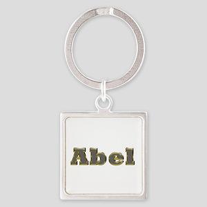 Abel Gold Diamond Bling Square Keychain