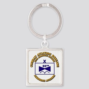 Combat Aviation Bde - 82nd AD Square Keychain