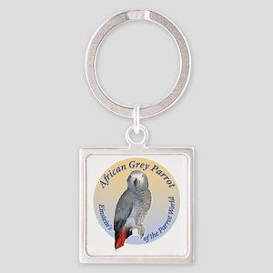 Einstein of the Parrot World (Afri Square Keychain