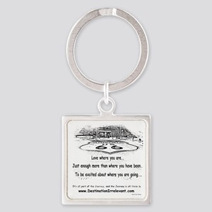 new-get-your-kicks Square Keychain