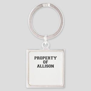 Property of ALLISON Keychains