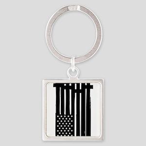American Flag Crosses Keychains
