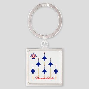 Thunderbirds Square Keychain